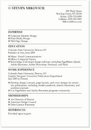 Sample College Resumes Resume Example by Incredible Examples Of College Resumes 10 Student Summer Job