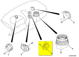 where is the thermal heat resistor blower motor resistor on a