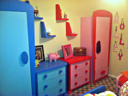 furniture ikea toy storage in red and blue with picture frame