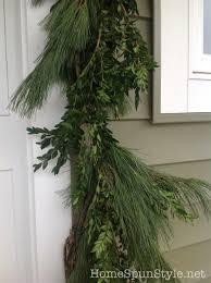 semi homemade fresh wreath and garland u2013 home spun style