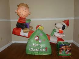 peanuts airblown inflatables big peanuts airblown brown snoopy christmas