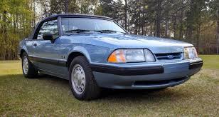 Black Mustang Lx Randy U0027s 1990 Light Crystal Blue Mustang Lx 5 0 Convertible