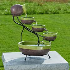 Backyard Fountains For Sale by Smart Solar Sundance Mosaic Cascade Solar Outdoor Bird Bath