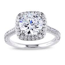 cubic zirconia halo engagement rings miadora sterling silver white cubic zirconia halo engagement ring