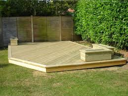 Backyard Wood Deck Amazing Wooden Deck Design For Patio Railing With Corner Bench