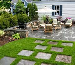 Landscape Patio Ideas Springfield With Backyard Patio Front Yard Patio Landscaping Ideas