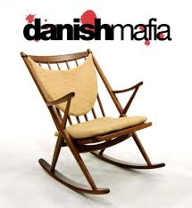 danish modern rocker rocking lounge chair eames brahmin danish mafia