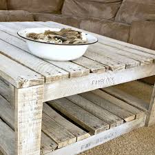 Make Outdoor End Table by Whitewash A Pallet Table Raw Wood Shabby And Decorating