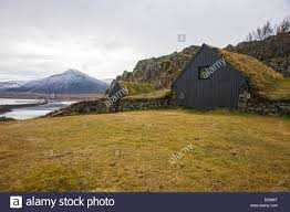 the hobbit house stock photos images alamy hobbit house turf roof grass shed storage near akranes iceland stock image