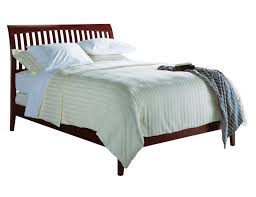 Low Profile Platform Bed Frame Rustic Wood Low Profile Platform Bed Frame With Railing Headboard