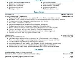 Police Officer Resume With No Experience Download Police Officer Resume Example Haadyaooverbayresort Com