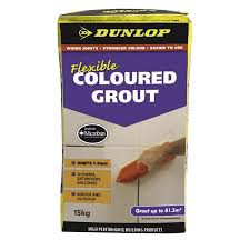dunlop 15kg flexible coloured grout midnight bunnings warehouse