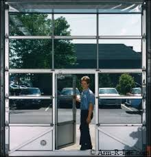 Glass Overhead Garage Doors Pedestrian Pass