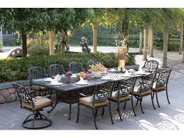 Cast Iron Patio Furniture Sets - darlee outdoor living standard elisabeth cast aluminum dining set