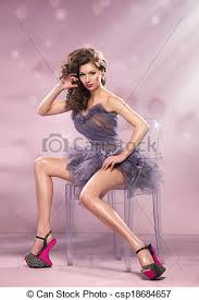 High Sitting Chair Stock Images Of Fashion Dressed Sitting On Chair Woman