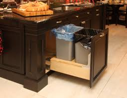 cabinet trash drawer shop pull out trash cans at lowes com custom kitchen features countryline woodcraft solid wood trash drawer slides retractable recycling soft full