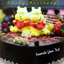 write your name on happy birthday celebration cake online fr
