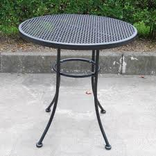 Mesh Patio Table White Wrought Iron Patio Tabled Chairs Metal Cheap Small Excellent