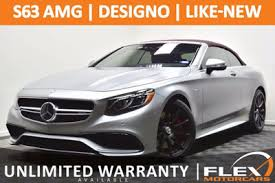 mercedes warranty information 2017 used mercedes amg s 63 4matic cabriolet at flex