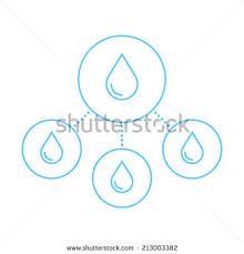 Challenge Water Drop Water Purification Linear Icons Vector Icons Stock Vector