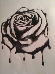 dongetrabi black rose drawing bleeding images