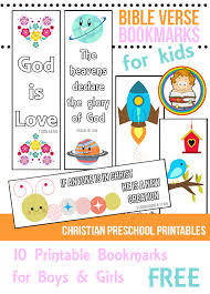 bible verse bookmarks for kids