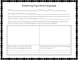5th grade figurative language worksheets worksheets