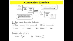 Metric Mania Worksheet Metric Conversions Using The Ladder Method Youtube