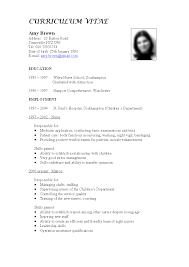 Sample Nursing Curriculum Vitae Templates 12 An Example And Format Of A Good Curriculum Vitae Supplyletter