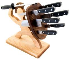 amazon com spartan knife block handmade premium birch holds