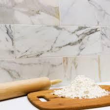 calacatta gold 6x18 polished marble tile tilebar com