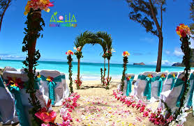 hawaiian weddings palm arch way in hawaii with tropical bright beautiful hawaiian