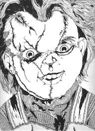 chucky coloring page horror horror and coloring pages on coloring