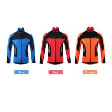 2017 thermal cycling jacket winter warm up bicycle clothing