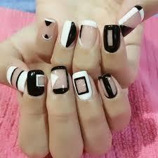 45 black and white nail art designs ideas design trends
