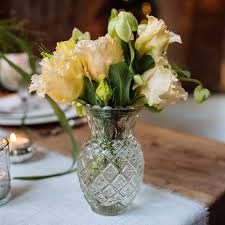 pressed glass pineapple posy vase by the wedding of my dreams