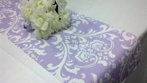 table runner or placemats lavender damask linens table runner or napkins or placemats