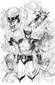 awesome art picks batman wolverine harley quinn and more