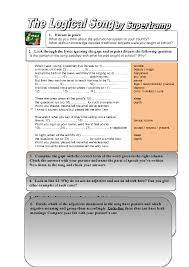 worksheet the logical song focus on derivatives