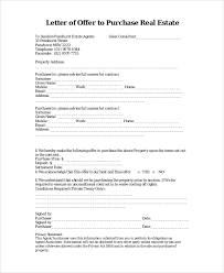 sample real estate offer letter 6 documents in pdf word