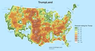 Us Map Topography Detailed Maps Split The U S Into Trumpland And The Clinton