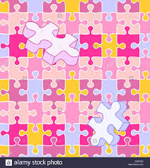 seamless vector swatch colorful wall wall puzzle pieces