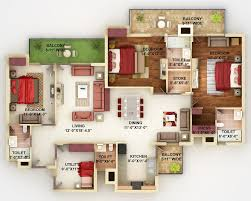 Floor Plans For Apartments 3 Bedroom by 50 Four U201c4 U201d Bedroom Apartment House Plans Bedroom Apartment