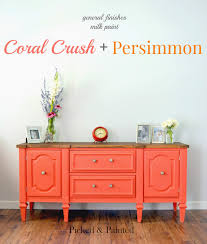 picked u0026 painted coral crush persimmon buffet good milk paint