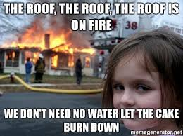 Water For That Burn Meme - the roof the roof the roof is on fire we don t need no water let
