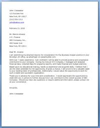 Sample Resume Skills Profile Cover Letter For Business Analyst With No Experience