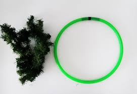 diy modern christmas wreath ohoh blog