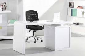 Modern White Office Table White Home Office Desks In High Gloss Finish With Storage Home