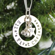 First Christmas Personalized Ornaments - personalized first christmas ornament jingle bells