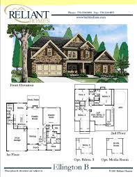 home blueprints for sale reliant homes the ellington b plan floor plans homes homes
